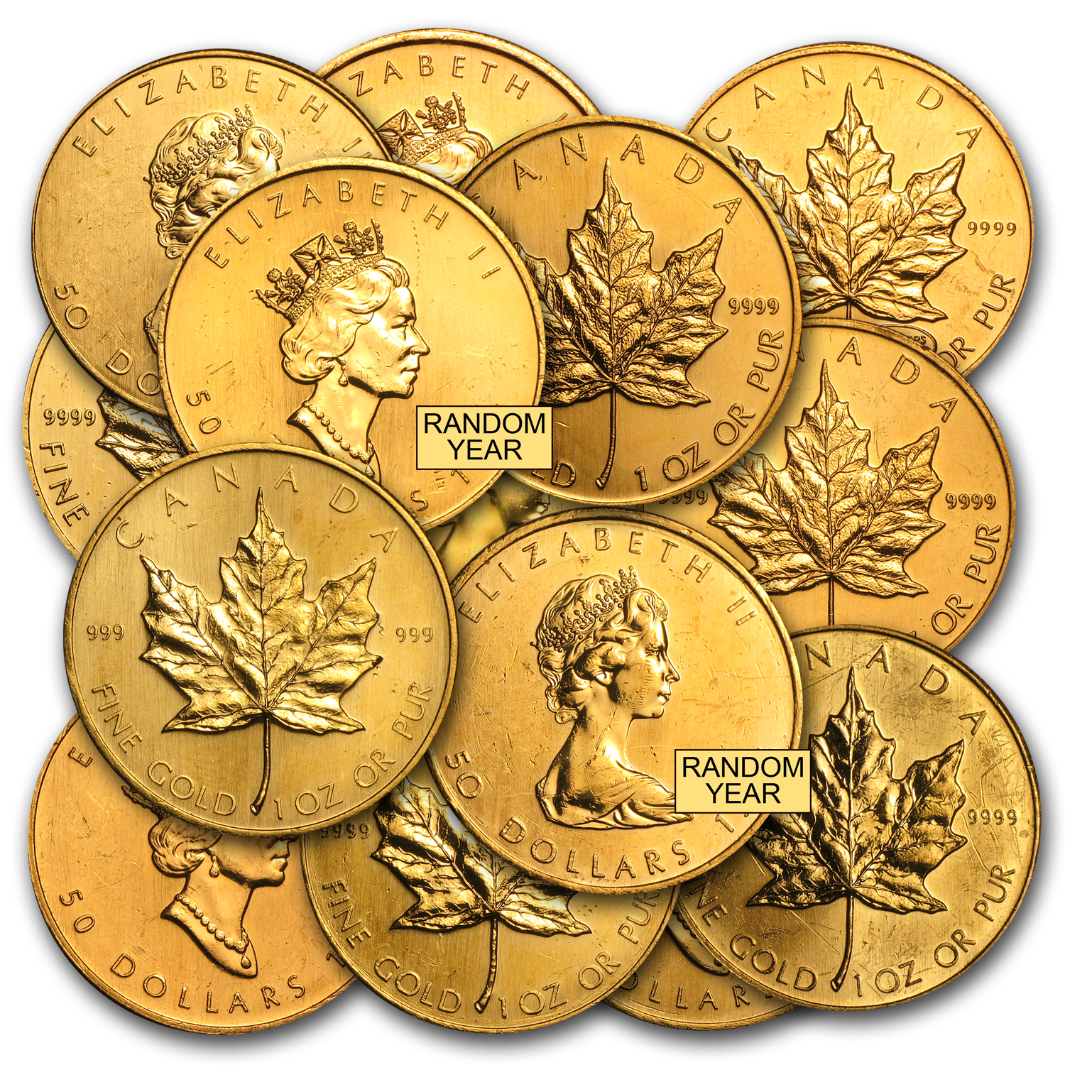 1 Oz Gold Canadian Maple Leaf Abrasions
