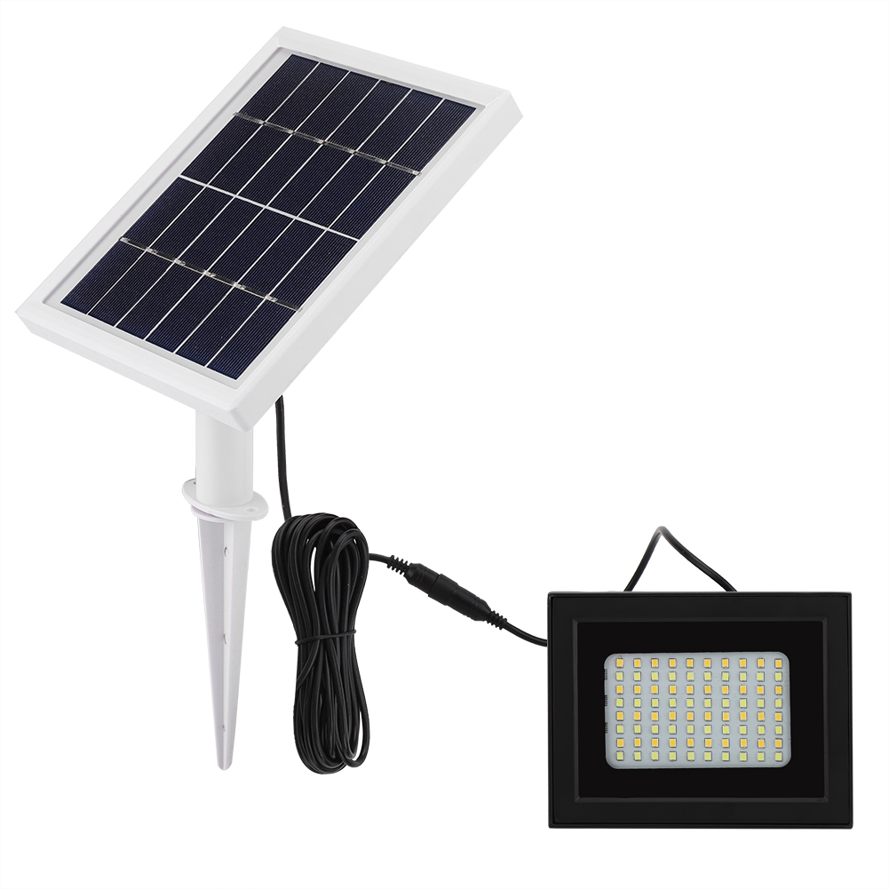 WALFRONT 80 LED Solar Power Flood Light Sensor Motion Activated Outdoor Garden Path Lamp,Solar Power Flood Light, Solar Flood Light