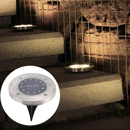Outdoor Pathway Lights (12LED Underground Lihgt Outdoor Garden Pathway Outdoor Waterproof Underground Bright Solar In-Ground Lights With 8 LED,Illuminate The Way Home)