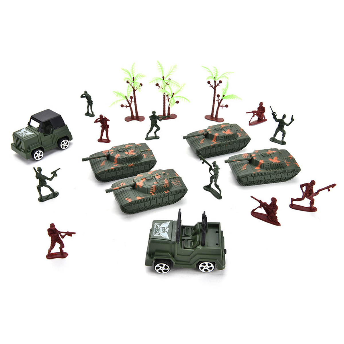 Meigar 307PCS Soldier Grenade Tank Aircraft Rocket Army Men Sand Scene Kids Model Toy by