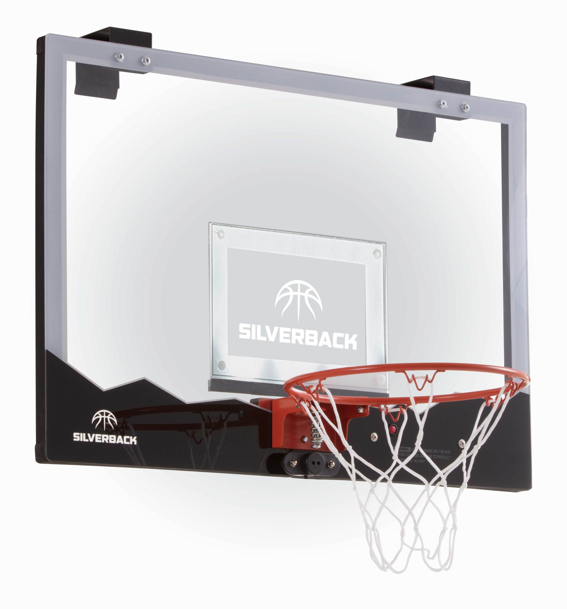 "Silverback 23"" LED Light-Up Over the Door Mini Basketball Hoop Includes Mini Basketball and Air Pump"