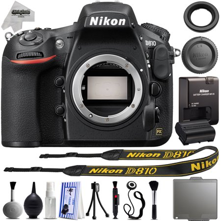 Nikon D810 36.3MP  DSLR Full Frame Camera + Built in Flash + 1080P + 3.2 LCD + Built in Flash + Wi-Fi & GPS Ready