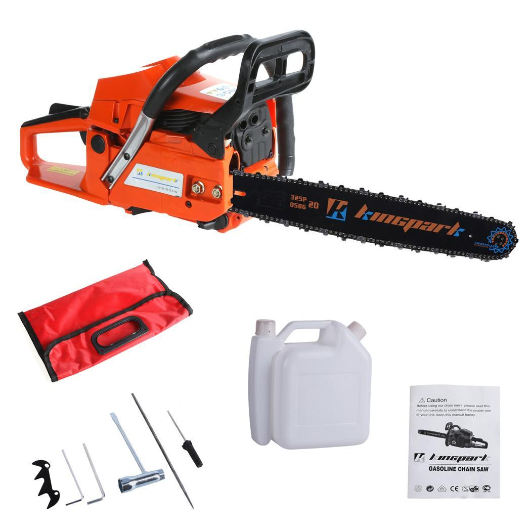 3.4HP 58cc Gasoline Gas Chainsaw Cutting Wood