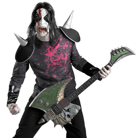 Disguise Adult Mens Evil Scary Metal Rockstar Halloween Costume - Easy But Scary Halloween Makeup
