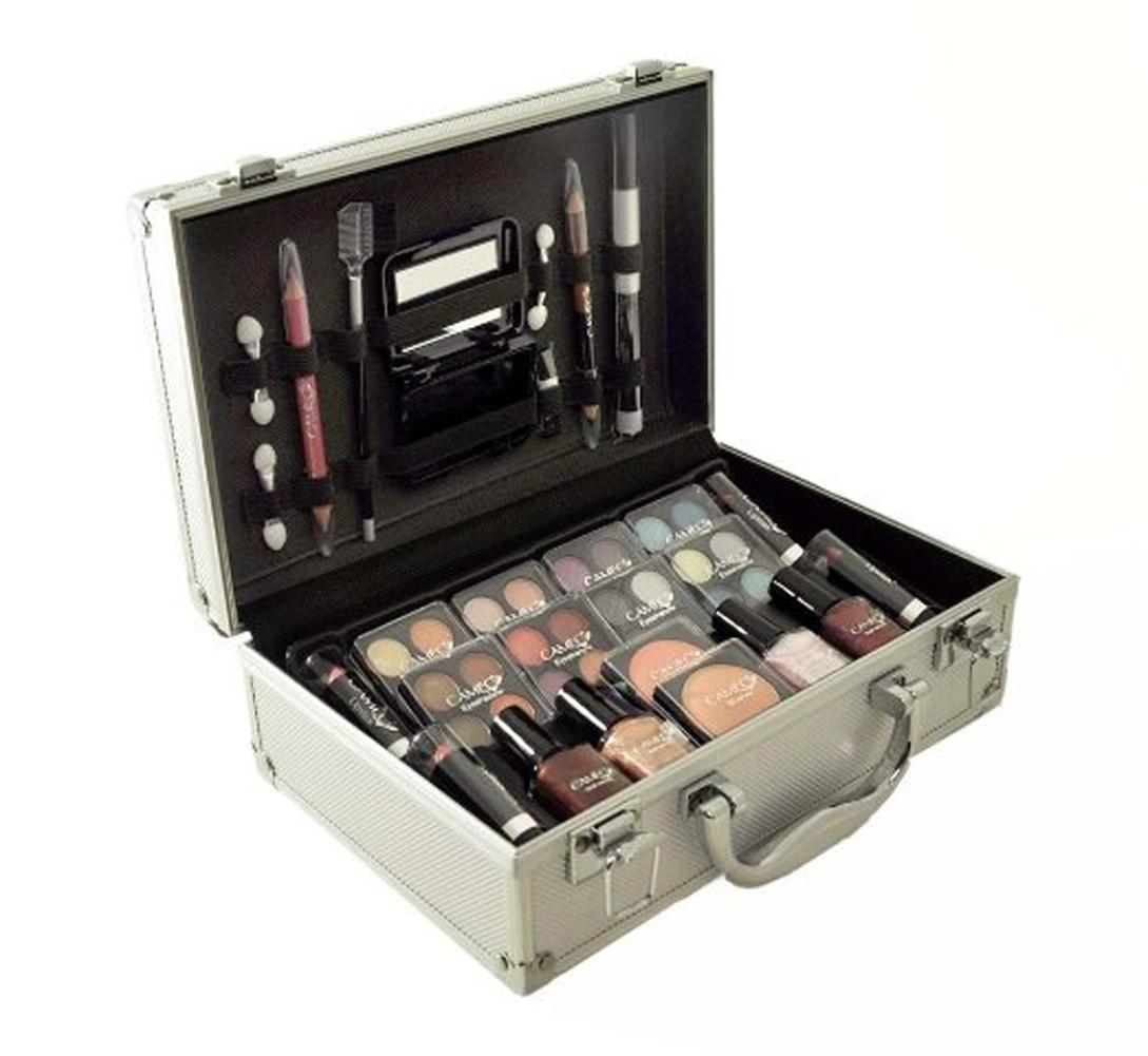 Carry All Trunk Train Case w/ Make Up + Aluminum Case
