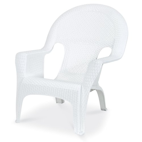 Us Leisure Ms Woven Lounge Chair  White