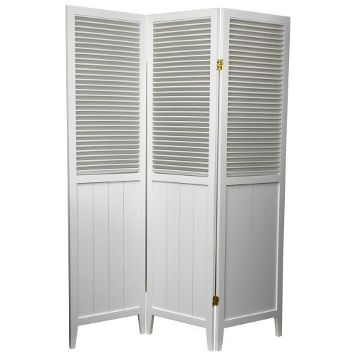 Oriental Furniture Beadboard White Room Divider