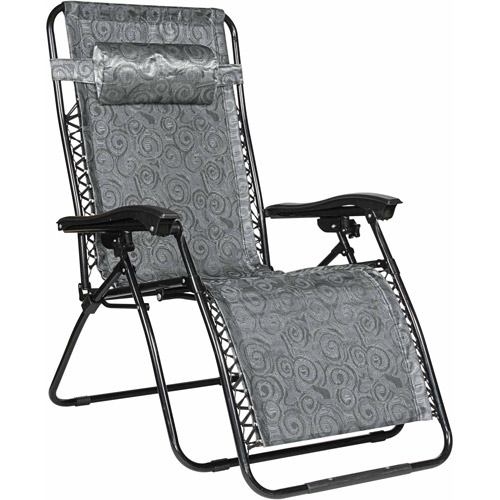 Camco Large Zero Gravity Chair, Black