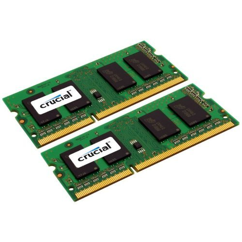 Crucial 4GB DDR3 SDRAM Memory Module - 4 GB (2 x 2 GB) - DDR3 SDRAM - 1600 MHz DDR3-1600/PC3-12800 - Non-ECC - Unbuffered - 204-pin SoDIMM