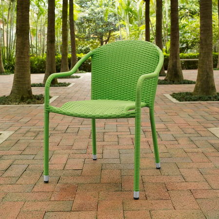 Crosley Palm Harbor Outdoor Wicker Stackable Chairs, Set of 4