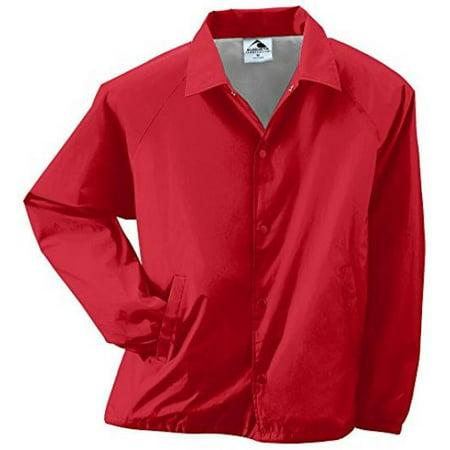 Orange Travel Jacket - Augusta Sportswear MEN'S NYLON COACH'S JACKET/LINED S Red
