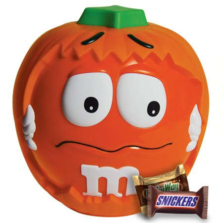 Mix Soiree Halloween (M&M'S, Snickers, 3 Musketeers & Milky Way Halloween Candy, Minis Size, Pumpkin Party Bowl, 24.45)