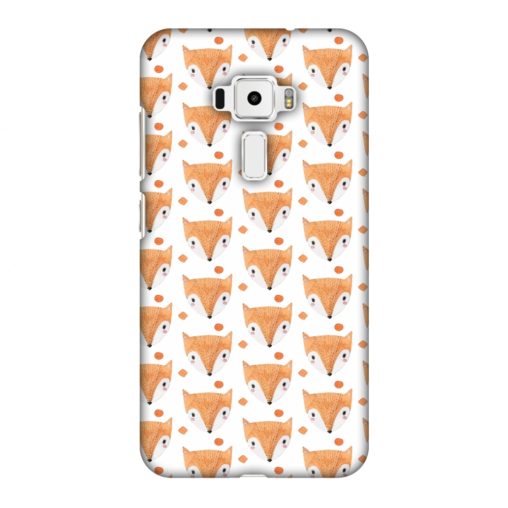 Asus Zenfone 3 ZE520KL Case - Foxes, Hard Plastic Back Cover. Slim Profile Cute Printed Designer Snap on Case with Screen Cleaning Kit
