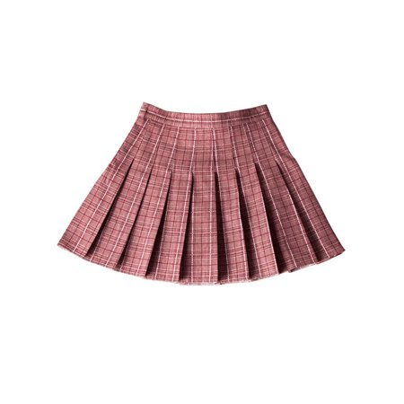 Girls High Waist Plaid Flared Pleated Short Skirt School Dress Cheerleading costumes](Children's Cheerleading Uniforms)