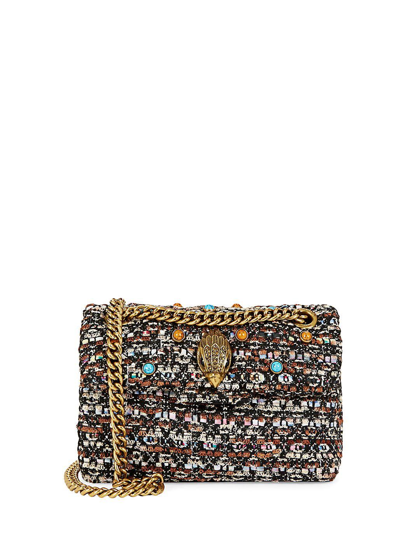 Mini Embellished Tweed Crossbody Bag