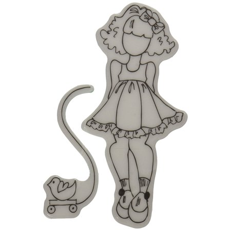 Mixed Media Doll Cling Rubber Stamps, Little Girl with Toy, Perfect for all your scrapbook and paper crafting projects! By Prima Marketing Ship from US for $<!---->