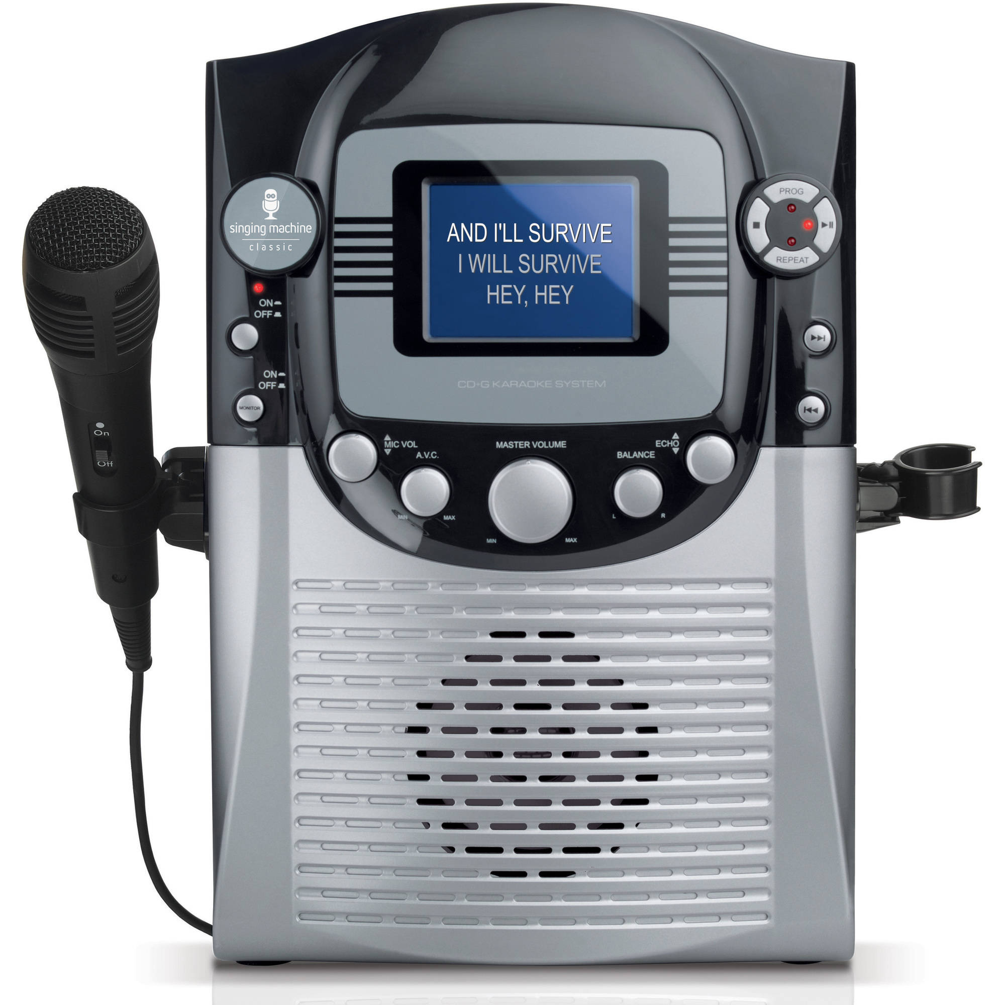 "Singing Machine STVG359 CD G Karaoke System with 3.5"" CRT Color Monitor and Microphone"