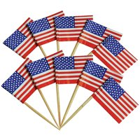 """American Flag 4th of July Party 2"""" Appetizer Picks, Red White Blue, 150 CT"""