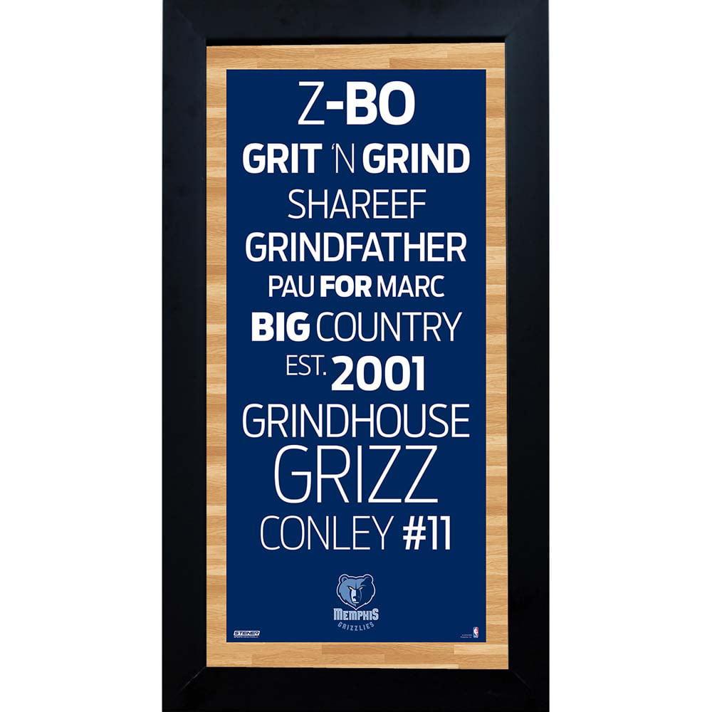 Memphis Grizzlies Subway Sign 6x12 Framed Photo