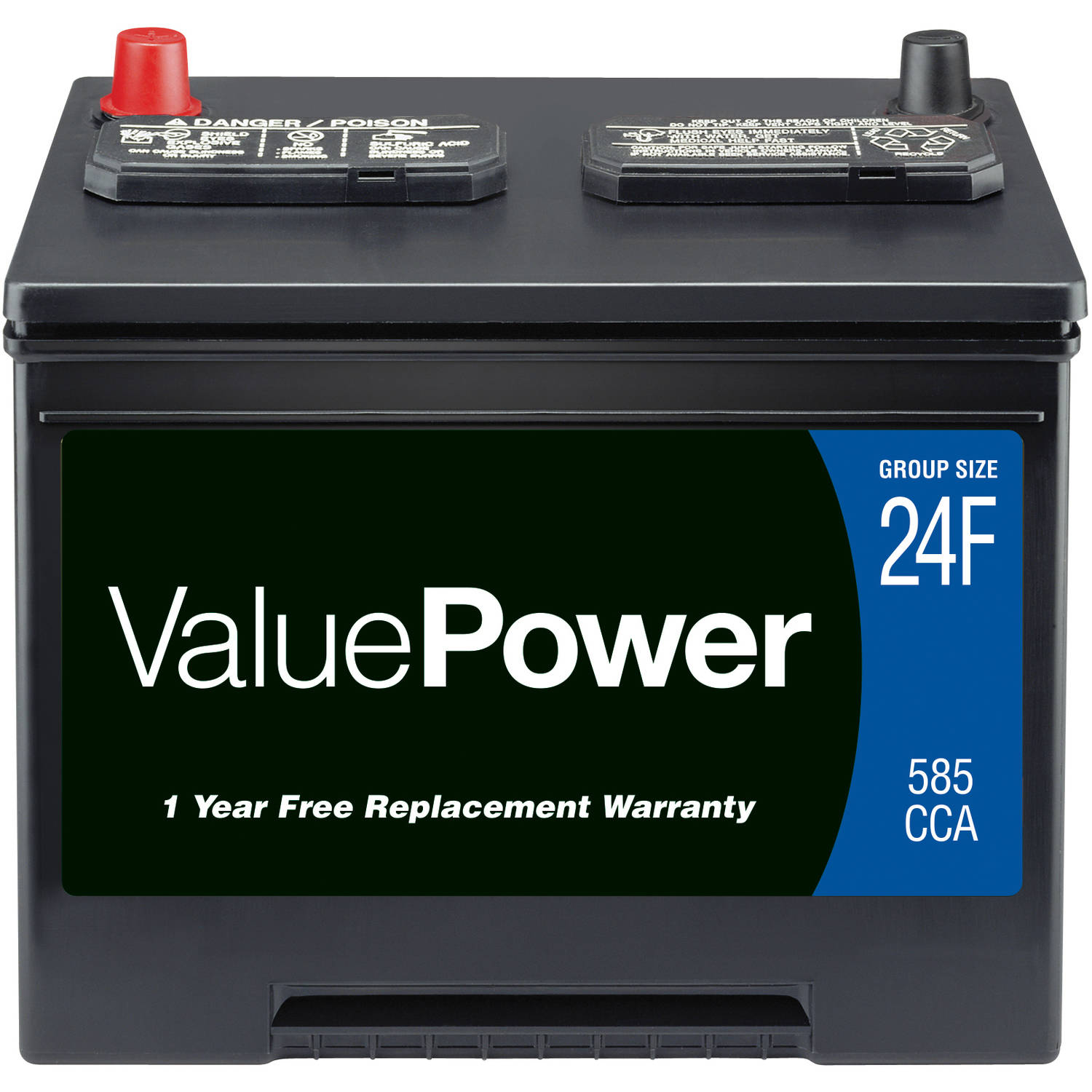 Walmart's automotive department offers a variety of car battery options in different sizes and voltages in addition to useful battery-related accessories such as portable battery chargers, jumper cables and charging system monitors.
