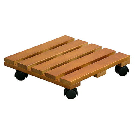 Innova Hearth & Home Square Wooden Plant Caddy