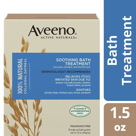 Aveeno Soothing Bath Treatment For Itchy, Irritated Skin, 8 (Best Treatment For Eczema On Legs)