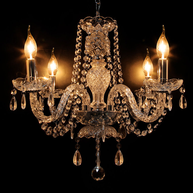 Clear Crystal Ceiling 4 Arms Pendant Lights Lamp Home Lighting European Chandelier