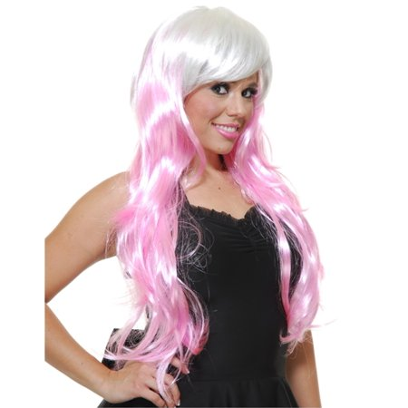 Womens Deluxe Long Pink White Princess Mermaid Anime Wig](Wigs Anime)