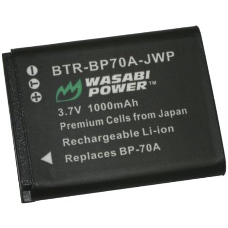 Wasabi Power Battery for Samsung BP70A, EA-BP70A The Wasabi Power BP70A battery replaces the Samsung BP70A battery. This battery features 1000mAh which provides a longer run-time between charges. It is made with premium Japanese cells to provide maximum battery life and also comes with a 3-year manufacturer warranty. Additionally, the Wasabi Power BP70A is completely compatible with all Samsung original equipment including the Samsung charger. Compatible with: Samsung AQ100 Samsung DV150F Samsung ES65, ES67 Samsung ES70, ES71, ES73, ES74, ES75 Samsung ES80 Samsung MV800 Samsung PL20 Samsung PL80 Samsung PL90 Samsung PL100, PL101 Samsung PL120 Samsung PL170 Samsung PL200, PL201 Samsung SL50 Samsung SL600, SL605 Samsung SL630 Samsung ST30 Samsung ST60, ST61 Samsung ST65, ST66, ST67 Samsung ST70, ST71, ST72, ST76 Samsung ST80 Samsung ST90, ST93, ST95 Samsung ST100 Samsung ST150F Samsung ST700 Samsung ST6500 Samsung TL105 Samsung TL110 Samsung TL205 Samsung WB30F Samsung WB35F Samsung WB50F Samsung WP10