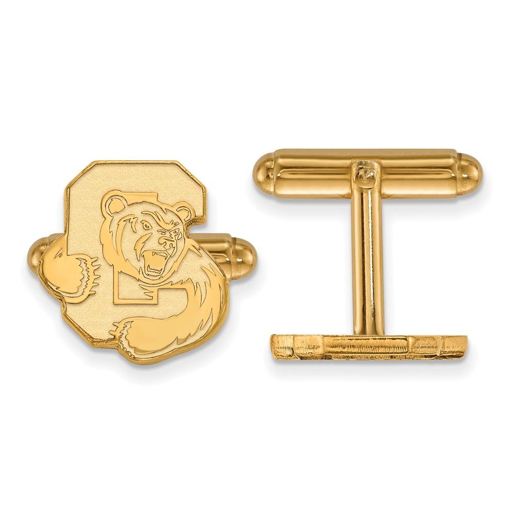 Lex /& Lu LogoArt Sterling Silver w//GP Univeristy of Memphis Small Dangle Earrings