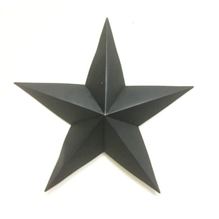 - 24 inch Metal Black Barn Star Handmade Iron Wall Décor Home Decoration Art
