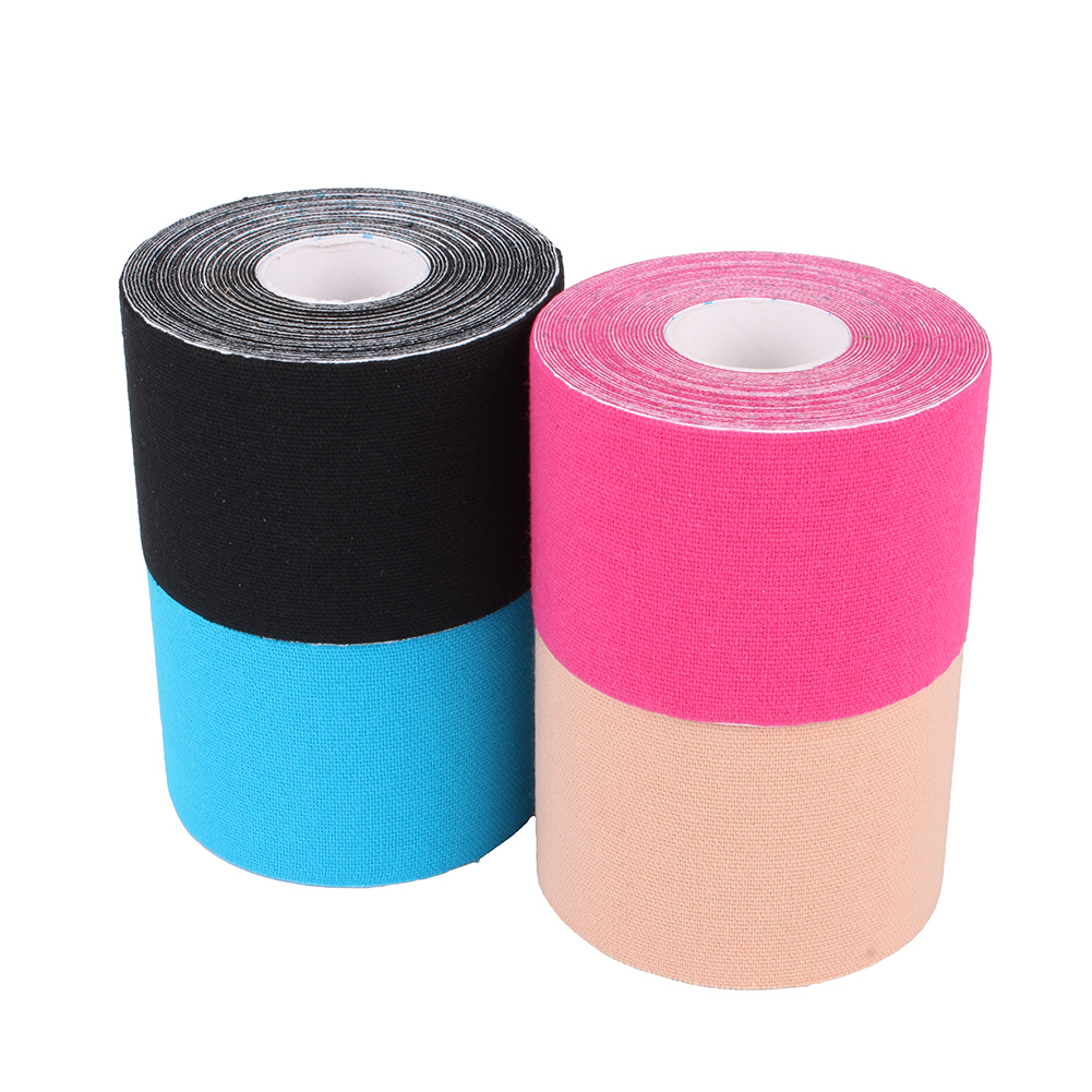 Kinesiology Tape Bchoice Therapeutic Sport Tape for Plantar Fasciitis Knee Wrist Elbow Shoulder Neck, 5CM X 5M Roll,Latex Free, Water Resistant,Beige
