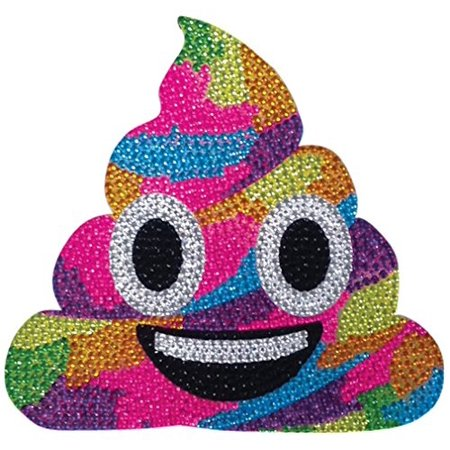 iscream Sparkly Rhinestone X-Pressive Rainbow Unicorn Poop Emoji 2