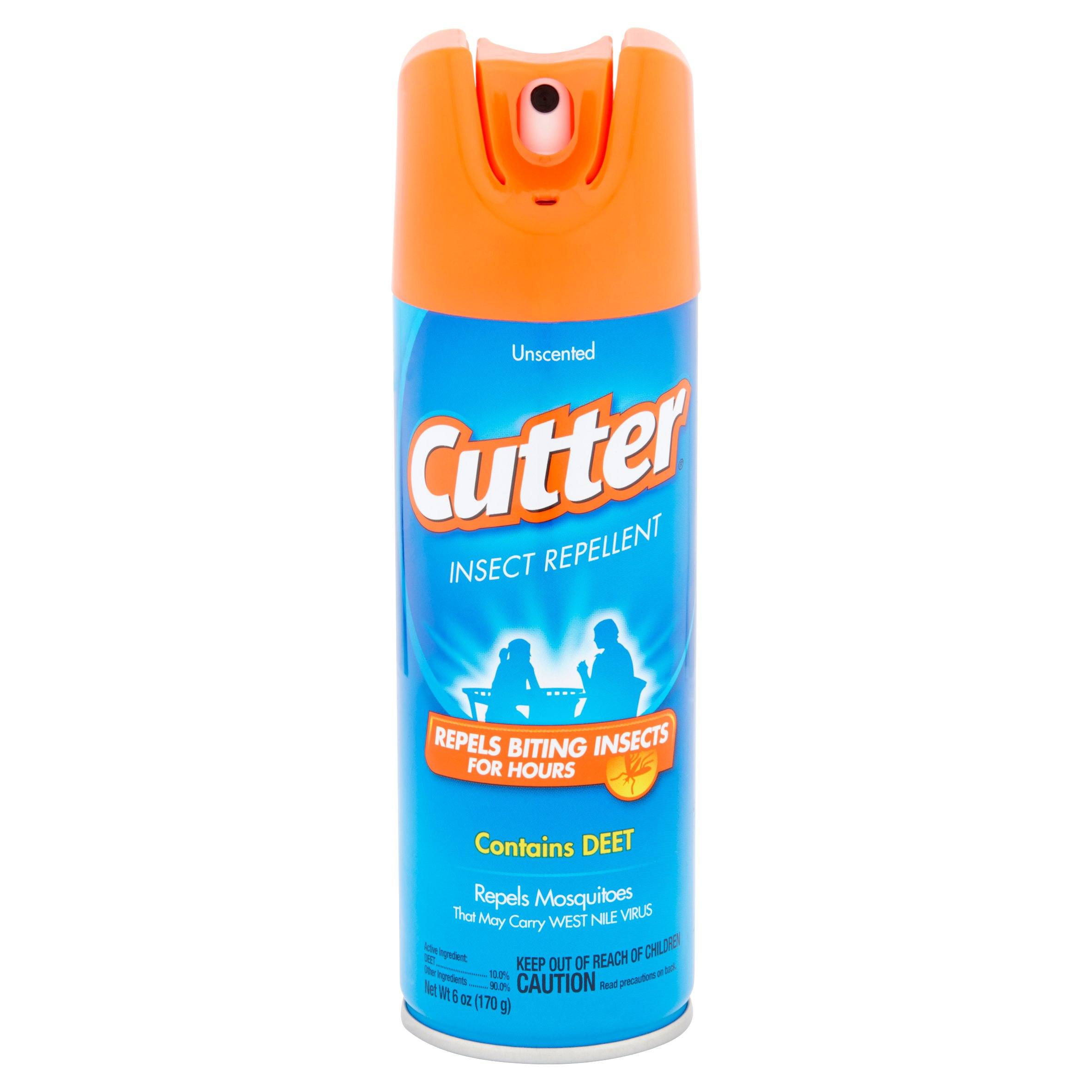 Cutter 10-Percent Deet Unscented Mosquito Insect Repellent, 6-Ounce