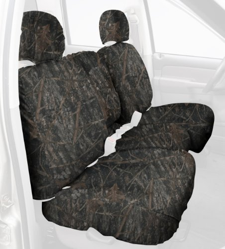 Covercraft Custom-Fit Front Bench SeatSaver Seat Covers - Polyester Fabric, Conceal Brown