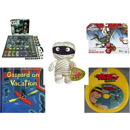 Children's Gift Bundle [5 Piece] -  Clue Secrets and Spies  - Jurassic World Velociraptor
