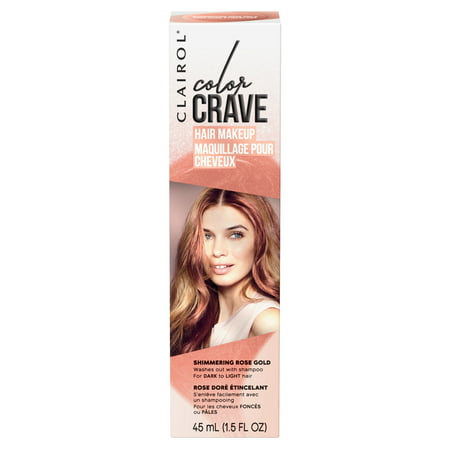 Clairol Color Crave Temporary Hair Makeup, Shimmering Rose - Halloween Hair And Makeup