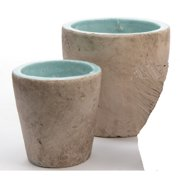 Northlight Seasonal Seaside Treasures 2-Piece Clay Pot Planter Set
