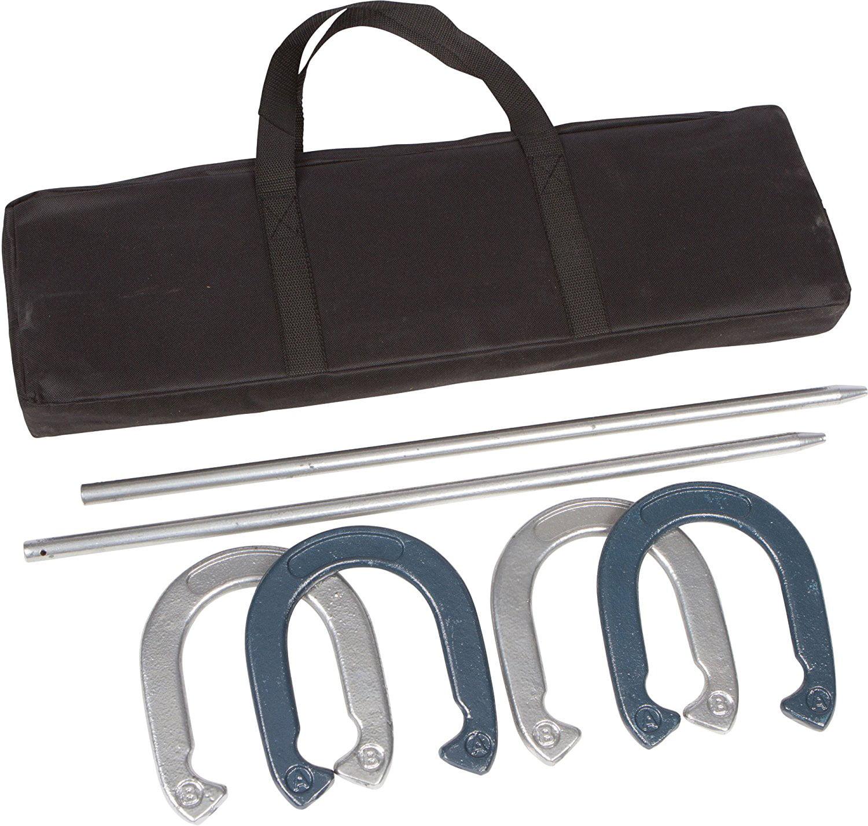 Pro Horseshoe Set - Powder Coated Steel Blue/Silver, USA,...