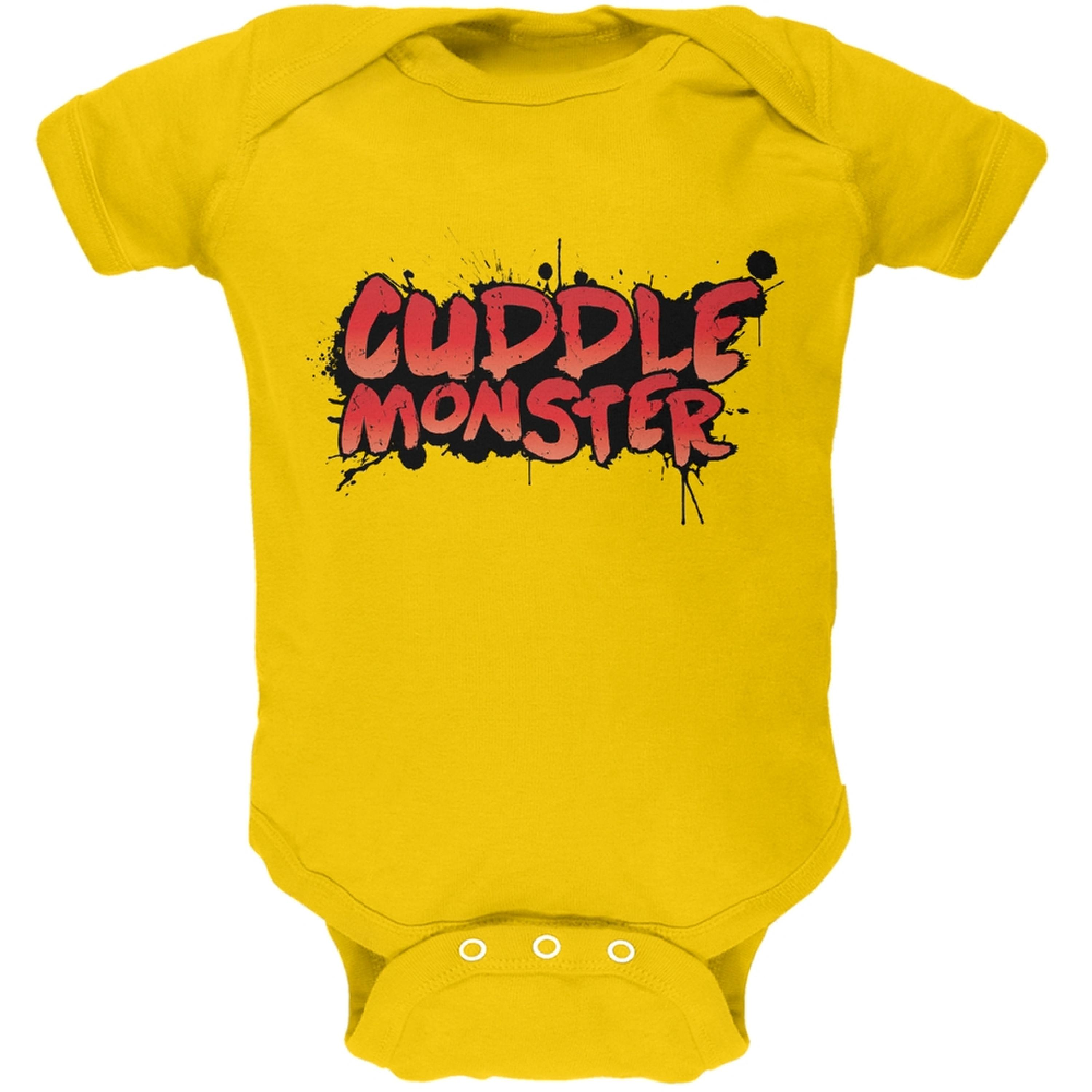 Cuddle Monster Yellow Soft Baby One Piece