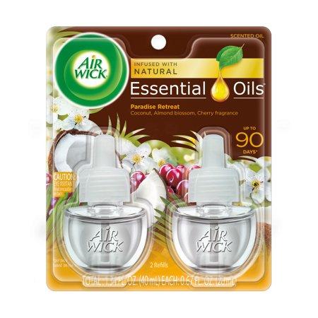 Air Wick Scented Oil 2 Refills, Paradise Retreat , (2X0.67oz), Air Freshener ()