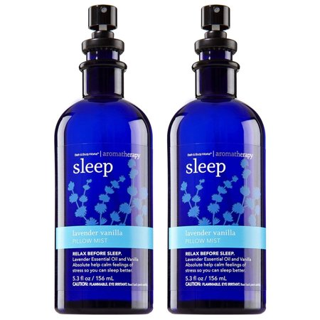 Bath and Body Works Aromatherapy Pillow Mist with Natural Essential Oils Sleep, Lavender + Vanilla