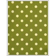Antigua Dining Arm Chair in Royal Oak-Fabric:Polka Dots on Green
