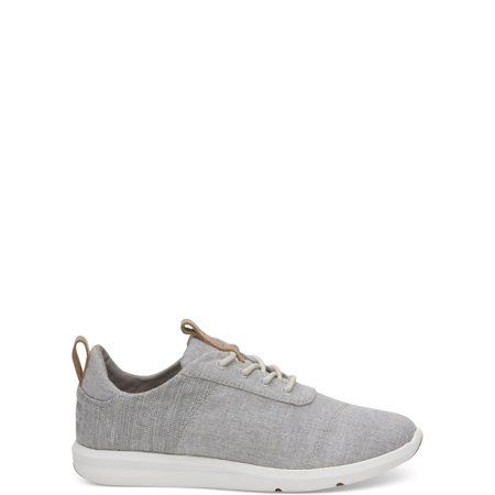 TOMS Women's Drizzle Grey Chambray Mix Cabrillo Sneakers (Tom Toms Shoes Womens)