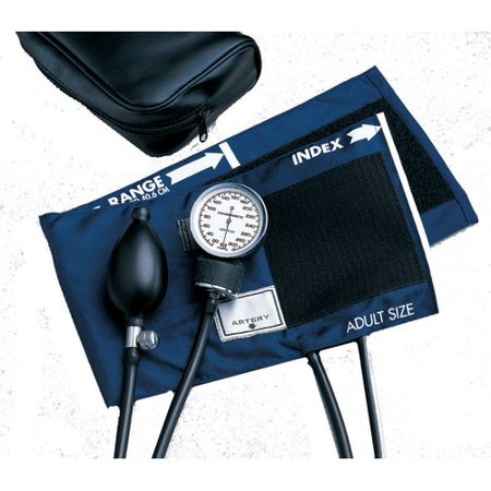 Aneroid Sphygmomanometer BASIC Pocket Style Hand Held 2-Tube Adult Size - Hand Sphygmomanometer
