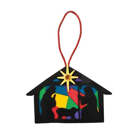 IN-48/6029 Nativity Silhouette Christmas Ornament Craft Kit Makes 12