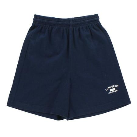Converse Kids Fleece Drawstring Shorts Navy - Kids Custom Converse