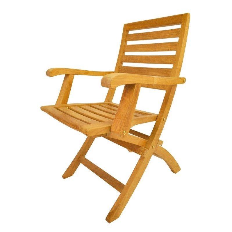 Anderson Teak Andrew Outdoor Folding Armchair Set of 2 by Anderson Teak