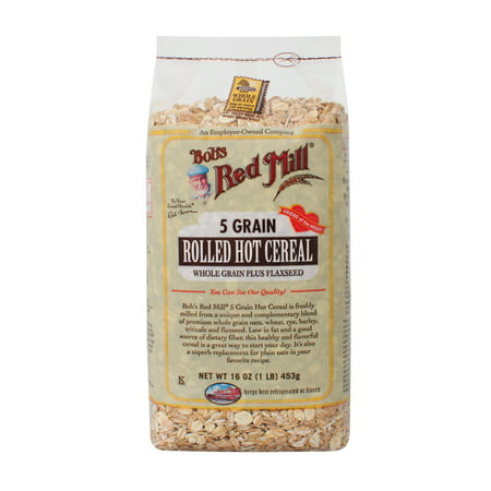 (3 Pack) Bob's Red Mill Hot Cereal, 5 Grain Rolled, 16