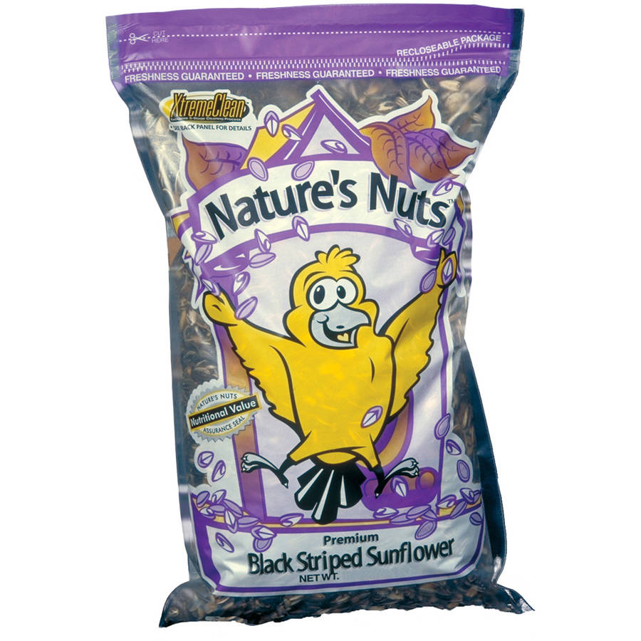 Natures Nuts 00051 16 Lbs Premium Black Striped Sunflower Seed